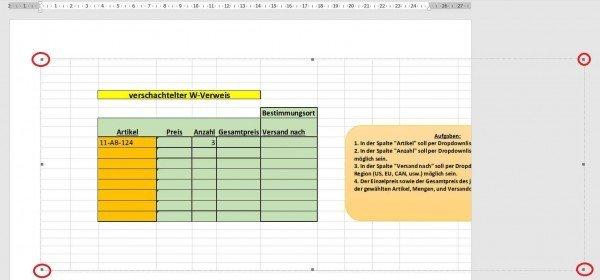 Excel Tabelle Größe anpassen