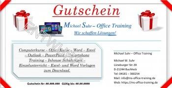 Rückseite Gutschein für Smartphone und Tablet Training