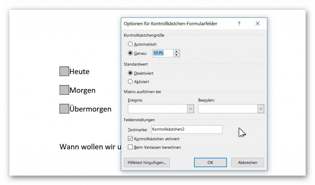 To insert controls in Word and create your own forms