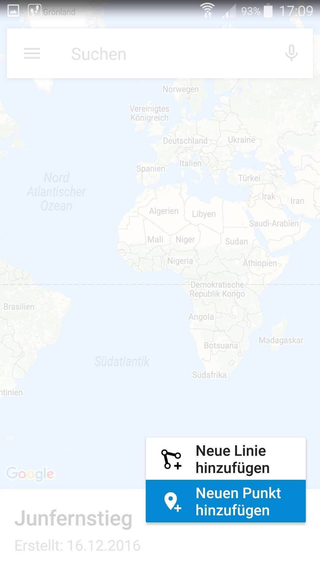 Google My Maps Karte einzeichnen