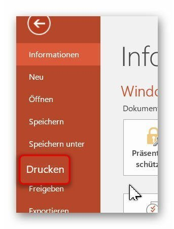PowerPoint virtuell drucken