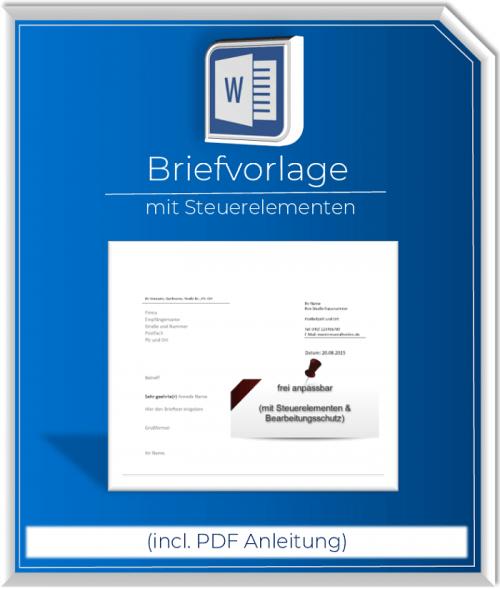 Produktbild Briefvorlage Standard