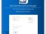 Produktbild Serienbriefvorlage