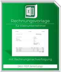 Rechnungsvorlage Kleinunternehmer incl. Rechnungsnachverfolgung