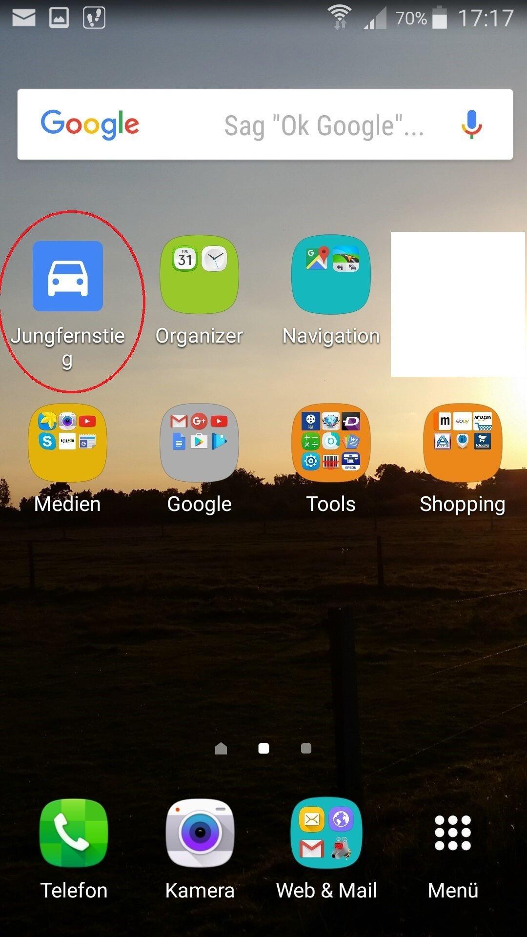 Google Maps Startbildschirm Wegbeschreibung