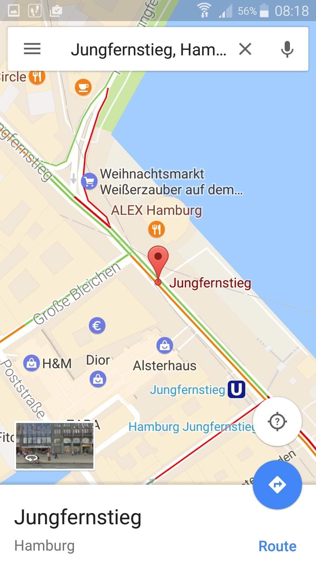 Google Maps Zieladresse eingeben