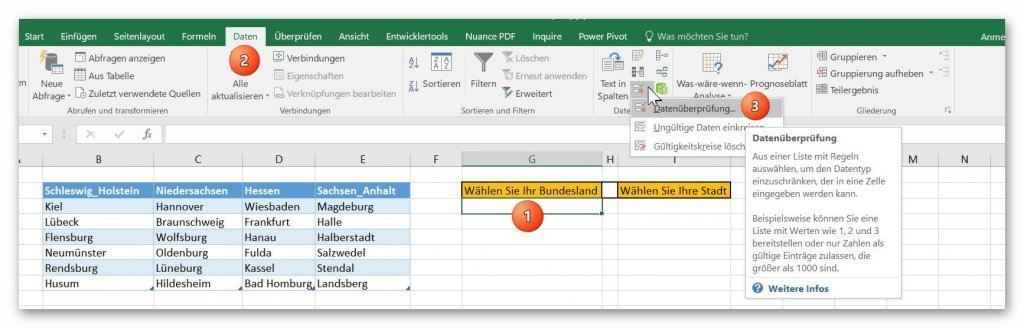 To Create Interdependent Drop Down Lists In Excel 2016