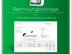 Produktbild Rechnungsvorlage inc. Produktstammdatenverwaltung+Nachverfolgung