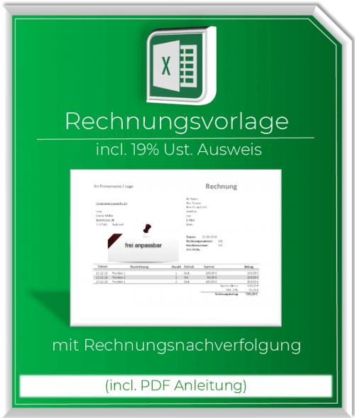 Produktbild Rechnungsvorlage mit Ust. Ausweis incl. Rechnungsnachverfolgung