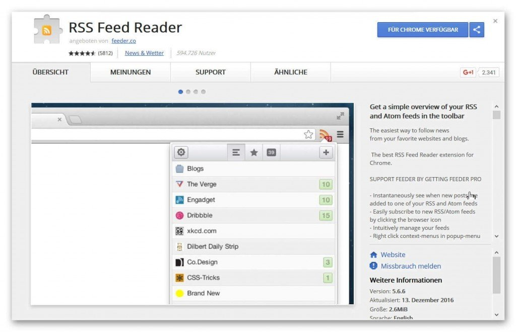 How to integrate RSS feeds in Outlook 2016 and your browser correctly