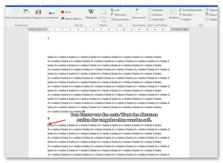 So Verschieben Sie Seiten In Word 2016 Und Fügen Auch Neue Seiten Ein