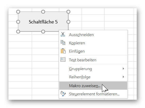 Button in Excel 2016 umbenennen