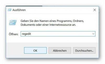 Windows 10 Registry aufrufen