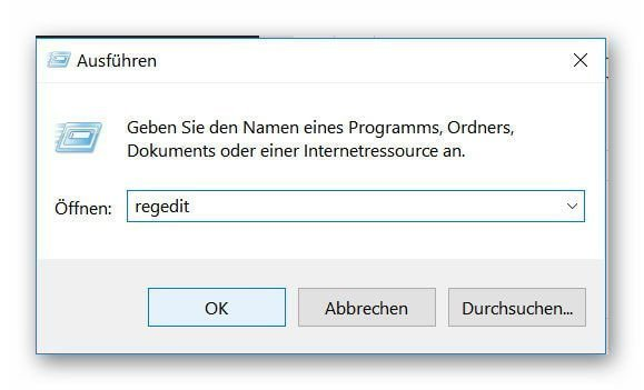 Windows 10 Registry aufrufen