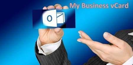 vCard mit Businessfoto in Outlook erstellen.
