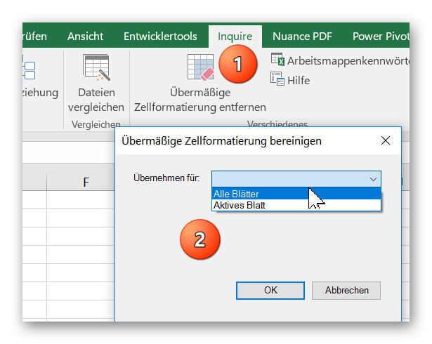 Excel Inquire ausführen