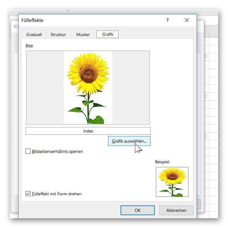 Grafik als Zellkommentar in Excel