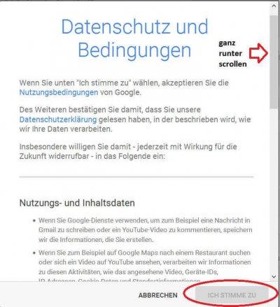 Google-Account-Datenschutzbestimmungen