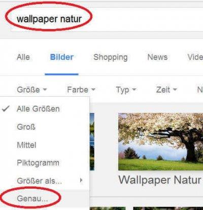 Google Bildersuche definieren