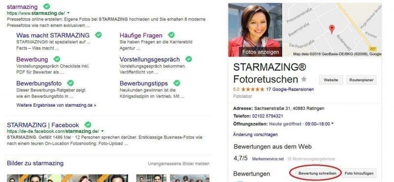 Google Business Eintrag suchen