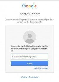 Google-Konto-Passwort-vergessen