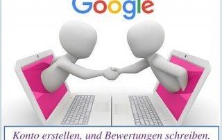 Google Konto erstellen und Bewertung schreiben