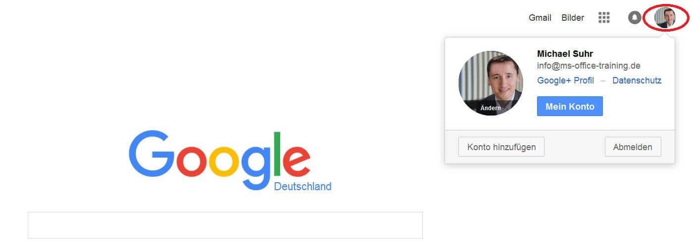 Google Login prüfen