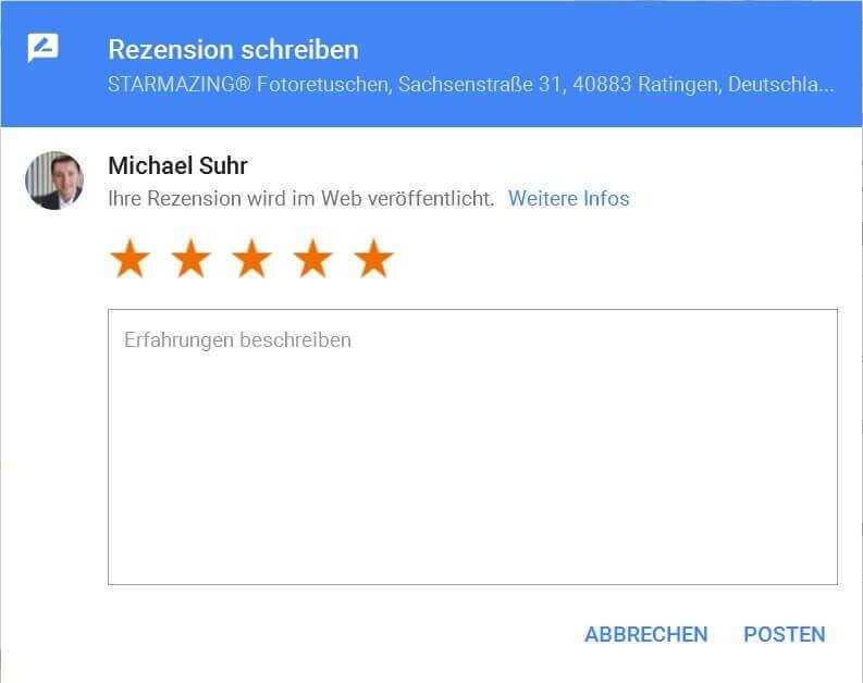 Google Rezension schreiben