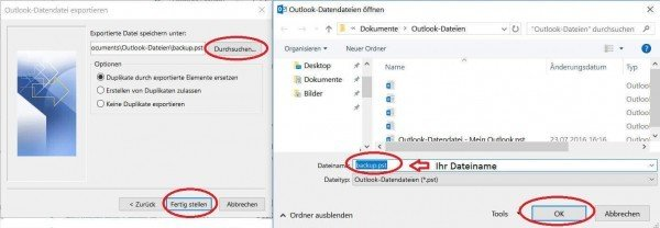 Save PST file in Outlook