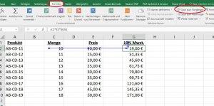 Excel Spur zum Vorgänger anzeigen