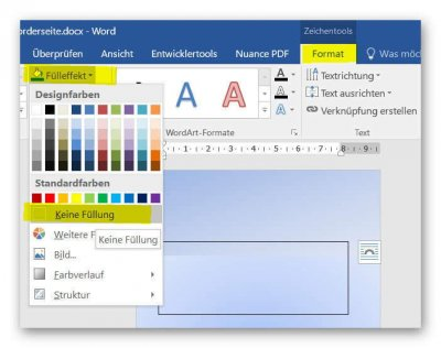 Format text fields in Word
