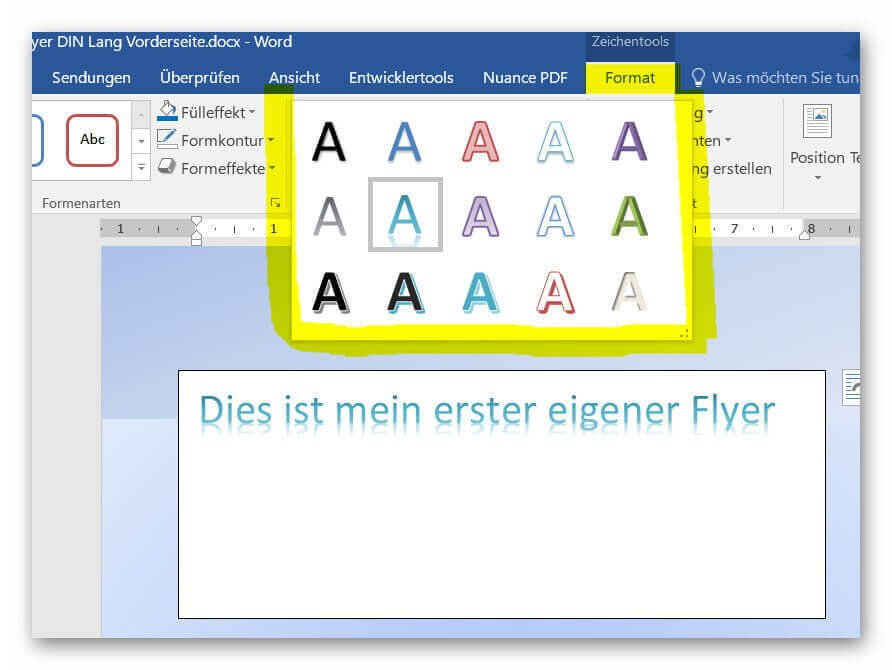 WordArt einfügen
