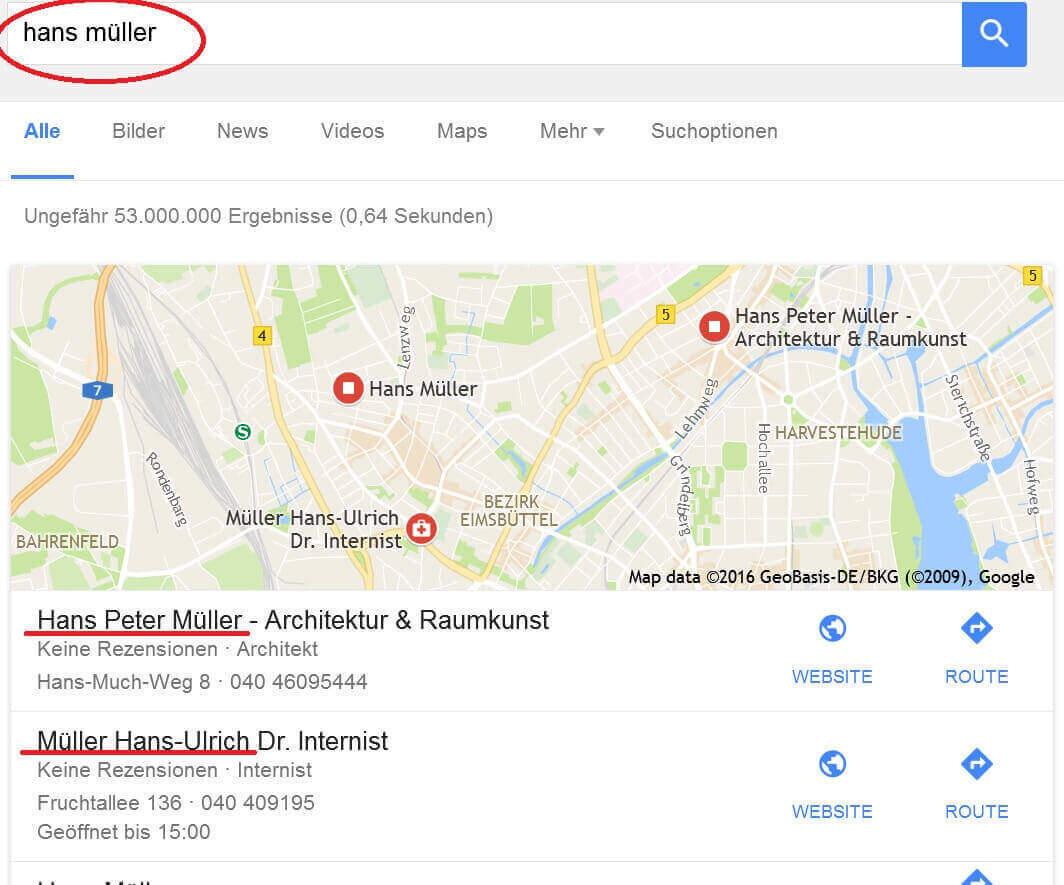 Zusammenhängende Begriffe bei Google suchen