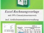 Excel Rechnungsvorlage mit Stammdatenverwaltung