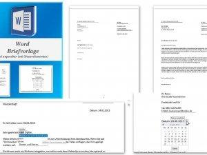 Word Briefvorlage mit Steuerelementen