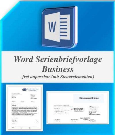 Word Geschäftsbriefvorlage/Serienbriefvorlage