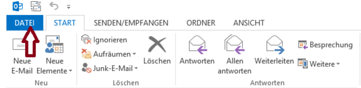 Abwesenheits-Assistent in Outlook