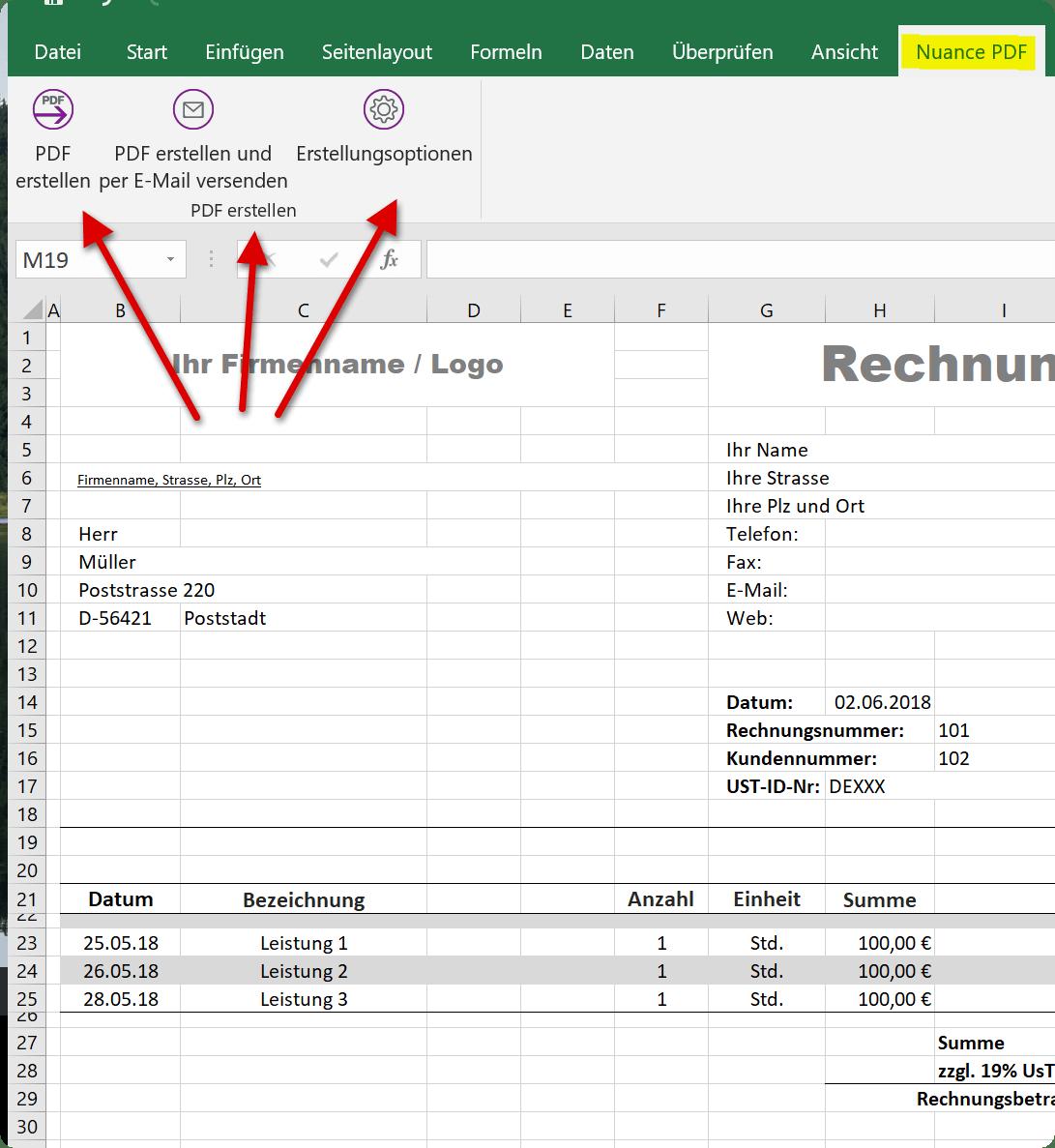 Excel als PDF speichern