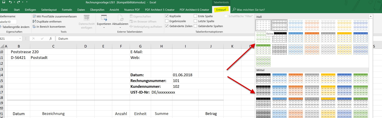 So Erstellen Sie Ihre Eigenen Rechnungsvorlagen In Excel 2016