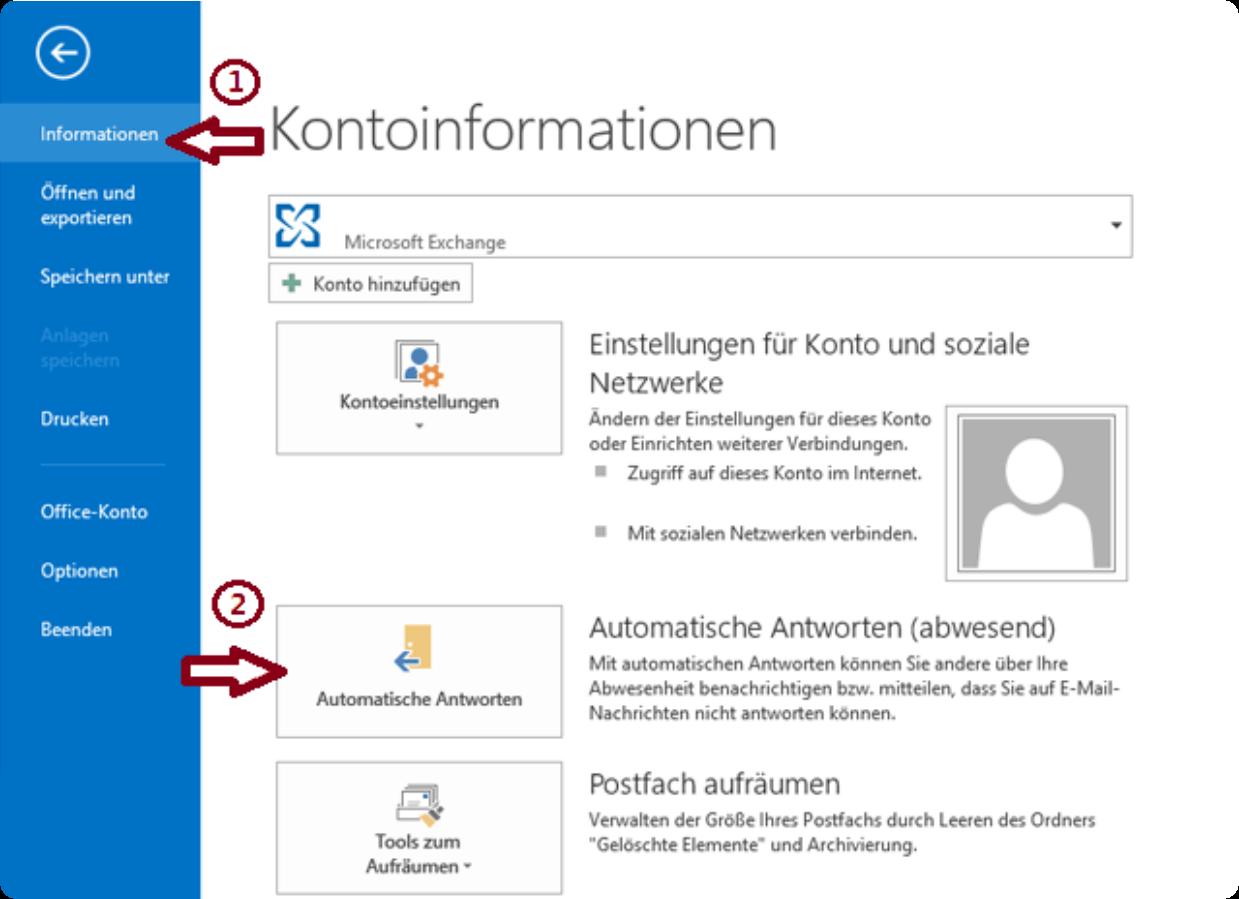 Outlook-Automatische Antworten