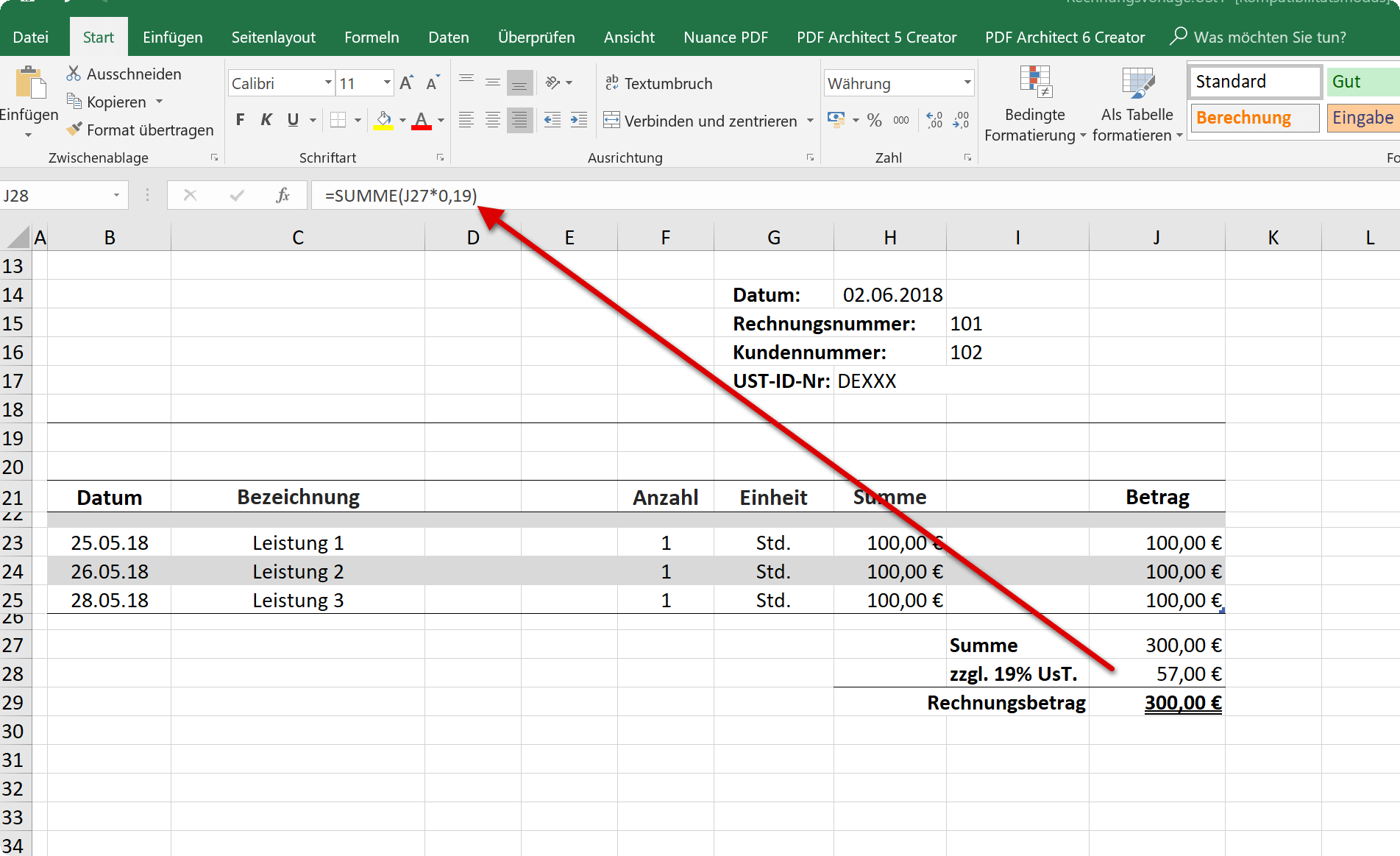 How to create your own invoice templates in Excel 2016