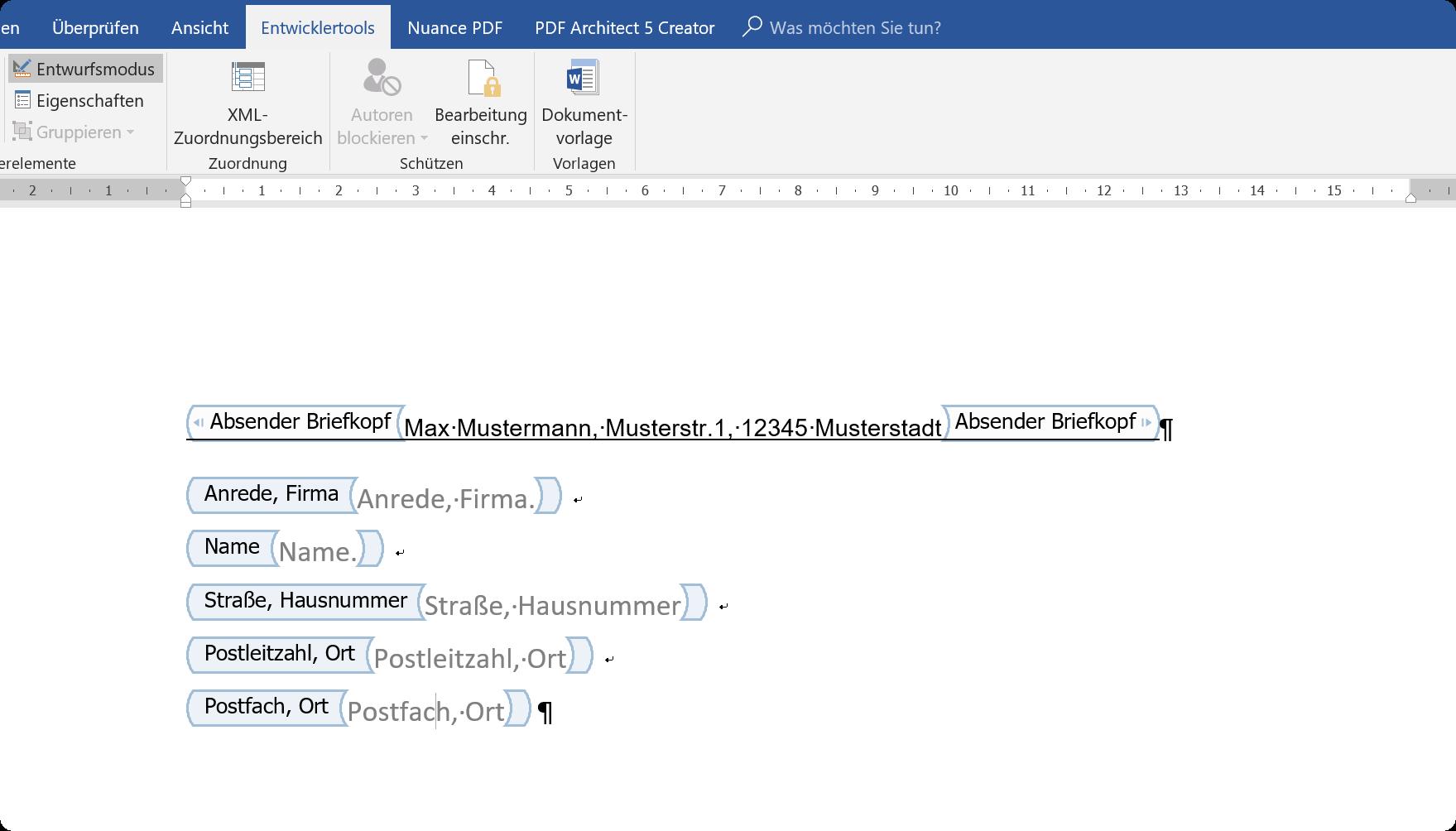 So Erstellen Sie Dynamische Briefvorlagen Mit Word 2016