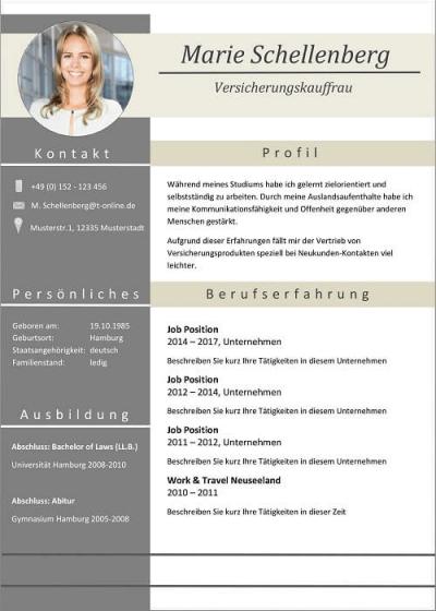 Word Lebenslaufvorlage - Full Attention