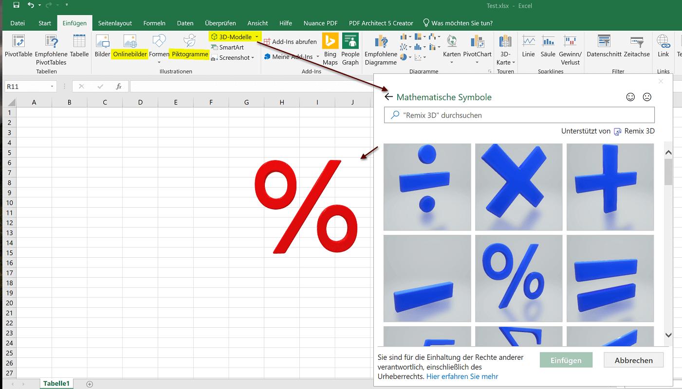 Excel 2019 - Grafiken