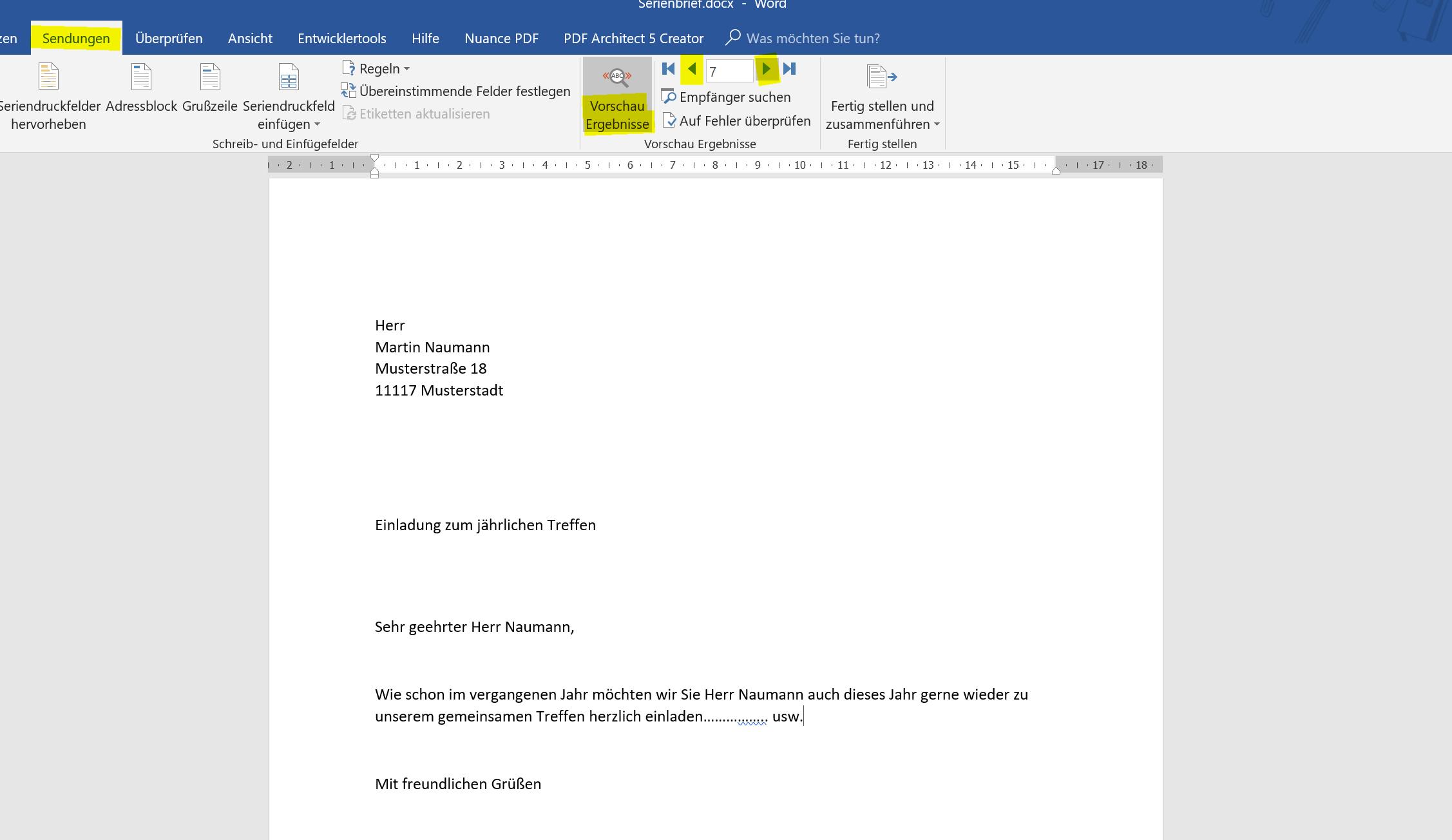 10. Vorschau Serienbrief