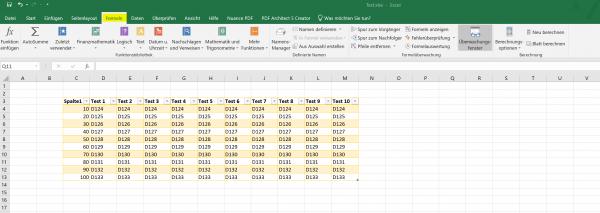 Excel 2019 - Reiter - Übersicht 1