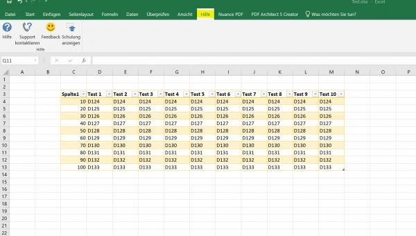 Excel 2019 - Reiter - Übersicht 2