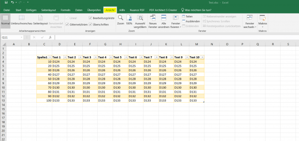 Excel 2019 - Reiter - Übersicht 3