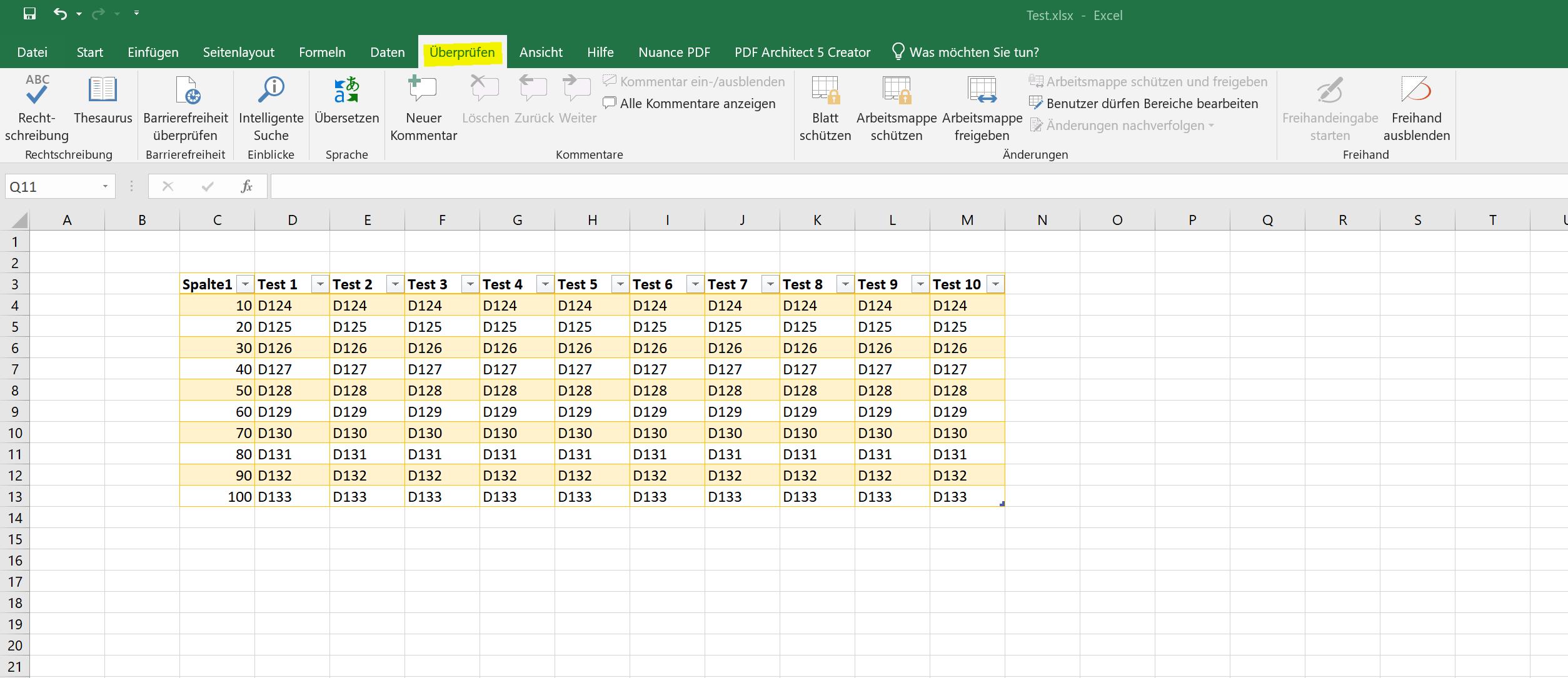 Excel 2019 - Reiter - Übersicht 4