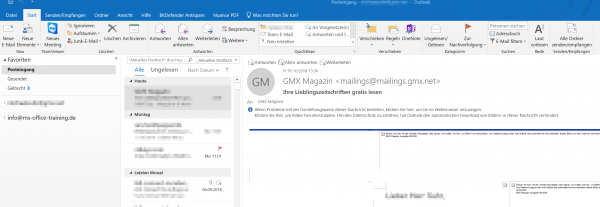 Outlook 2019 Ansicht 5